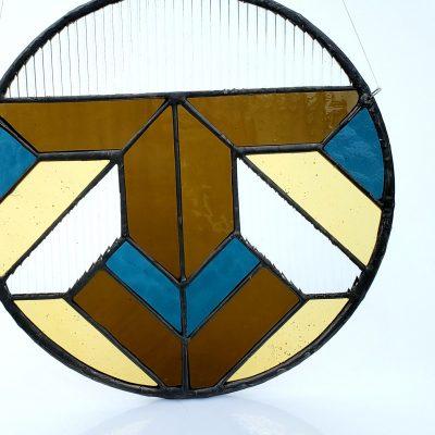 10″ Round Geometric Suncatcher
