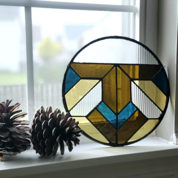 Round Stained Glass Sun Catcher
