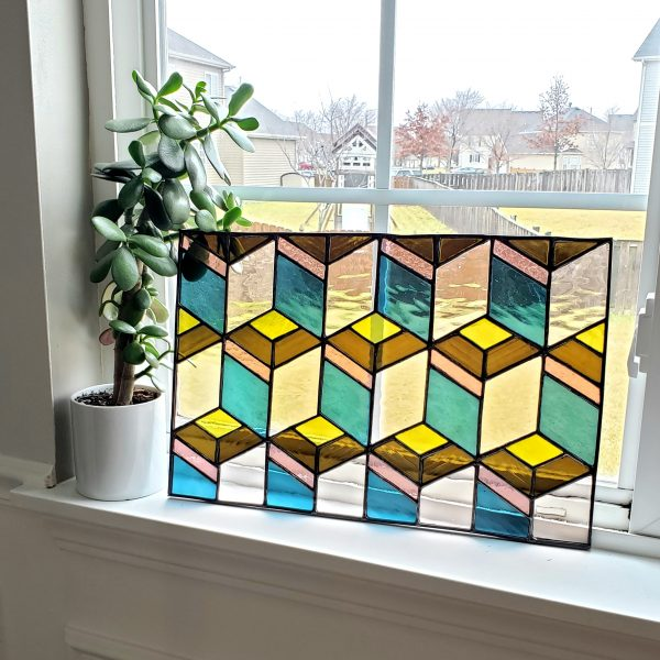 Bright Stained Glass Panel